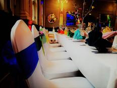 Rainbow wedding dinner