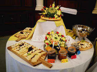 Fruit and cheese buffet