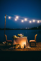 Beautiful decoration for wedding dinner