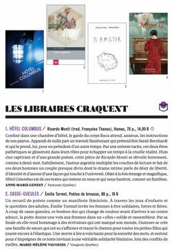 Revue Les libraires #107