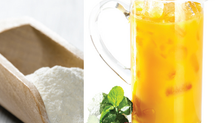 Adding texture to pulpy low calorie drinks based on fruit juice