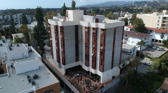 HHH Building aerial view - Photo by Antoine Seegmuller