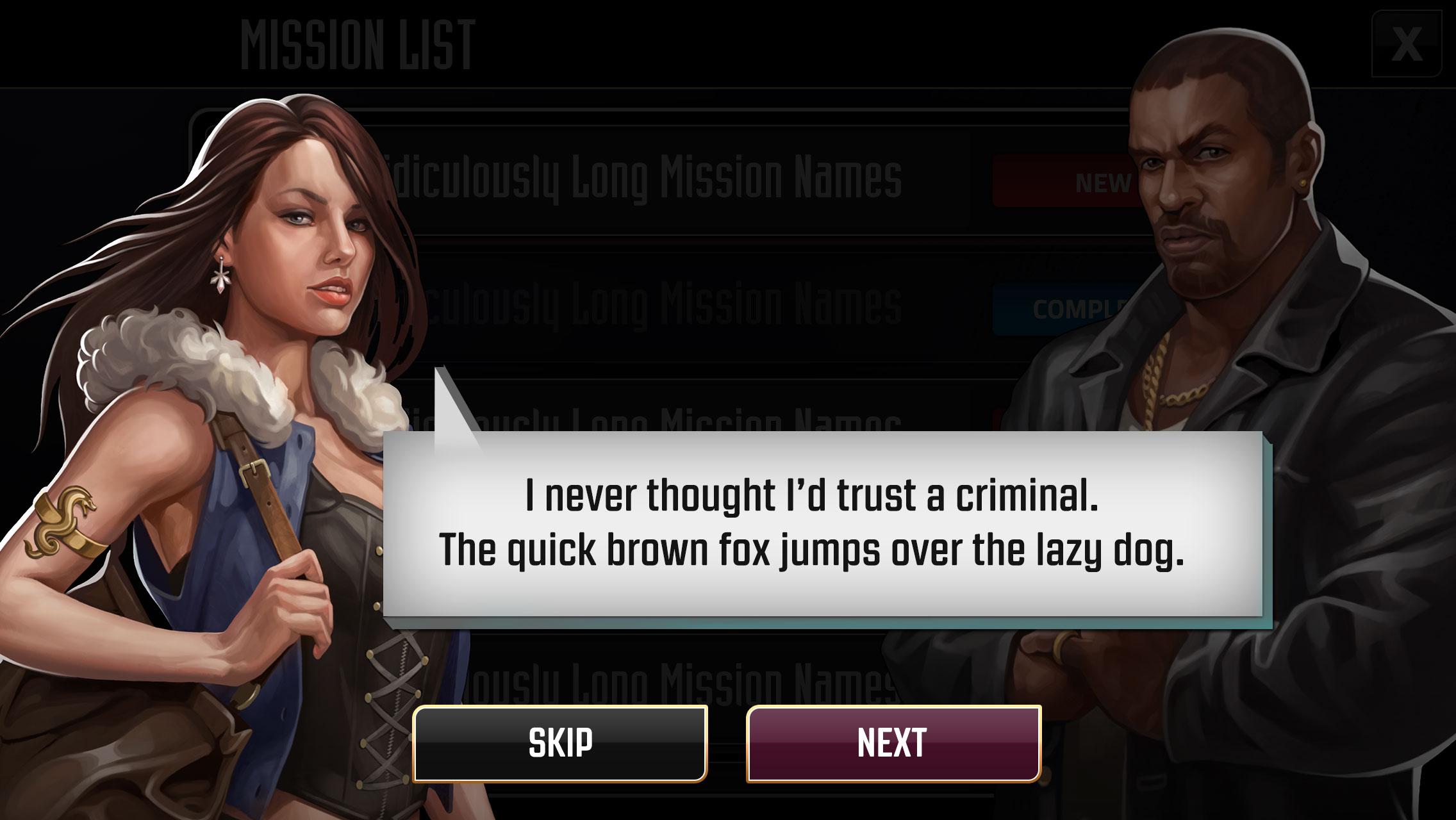 Criminal Legacy - UI
