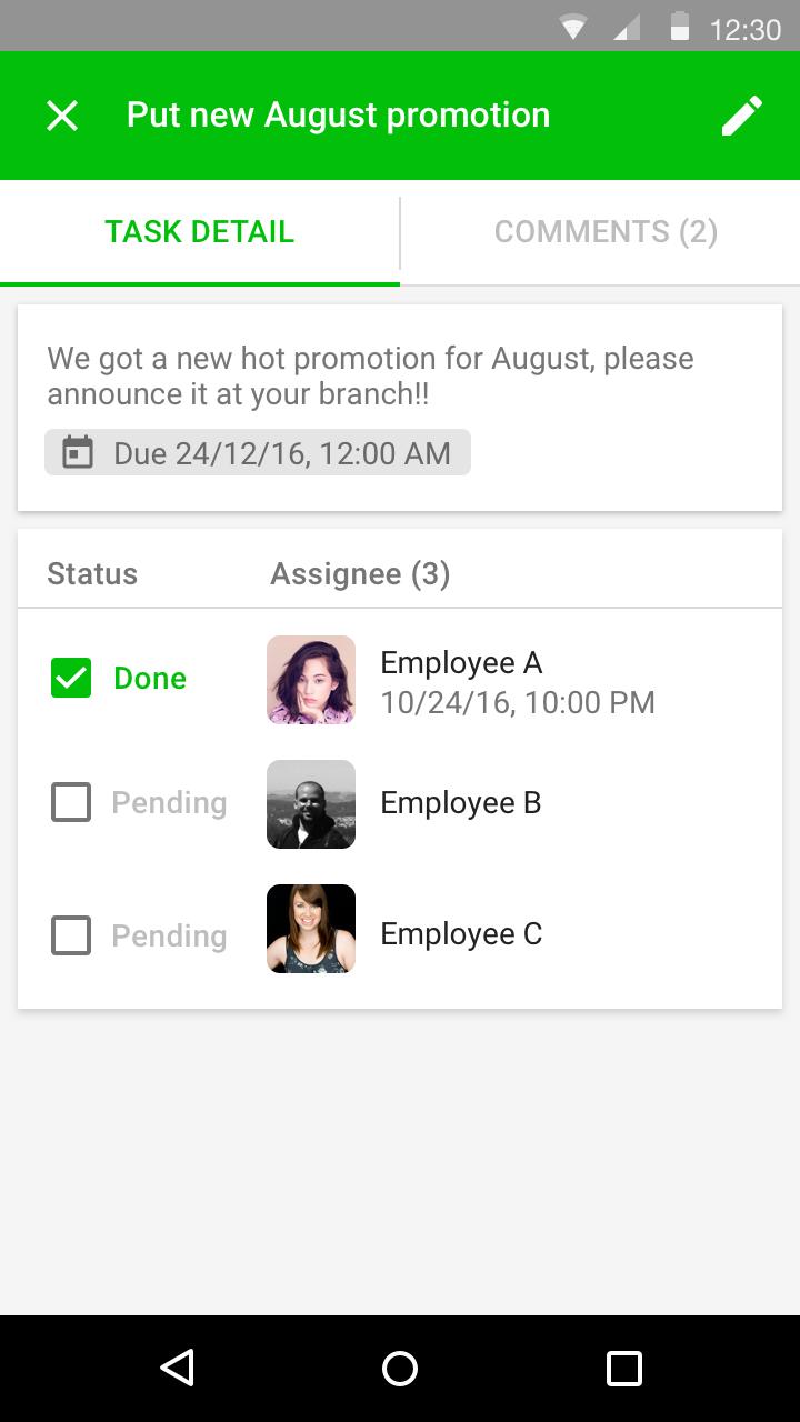 Task Detail - Assigner