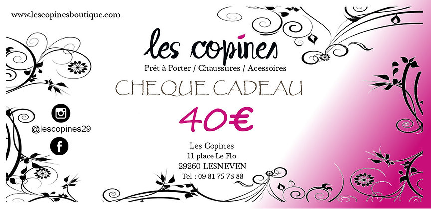 Chèque Cadeaux 40€