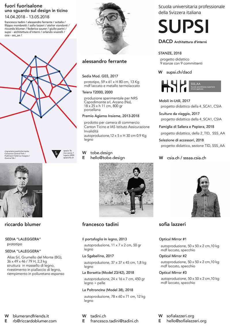 fuorisalone Lugano Design Spazio1b designer ticinesi salone del mobile, ferrante, blumer,tadini, supsi, csia, sssaa, lazzeri