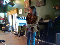 On set of Potiphar's wife directed by James A. Goins