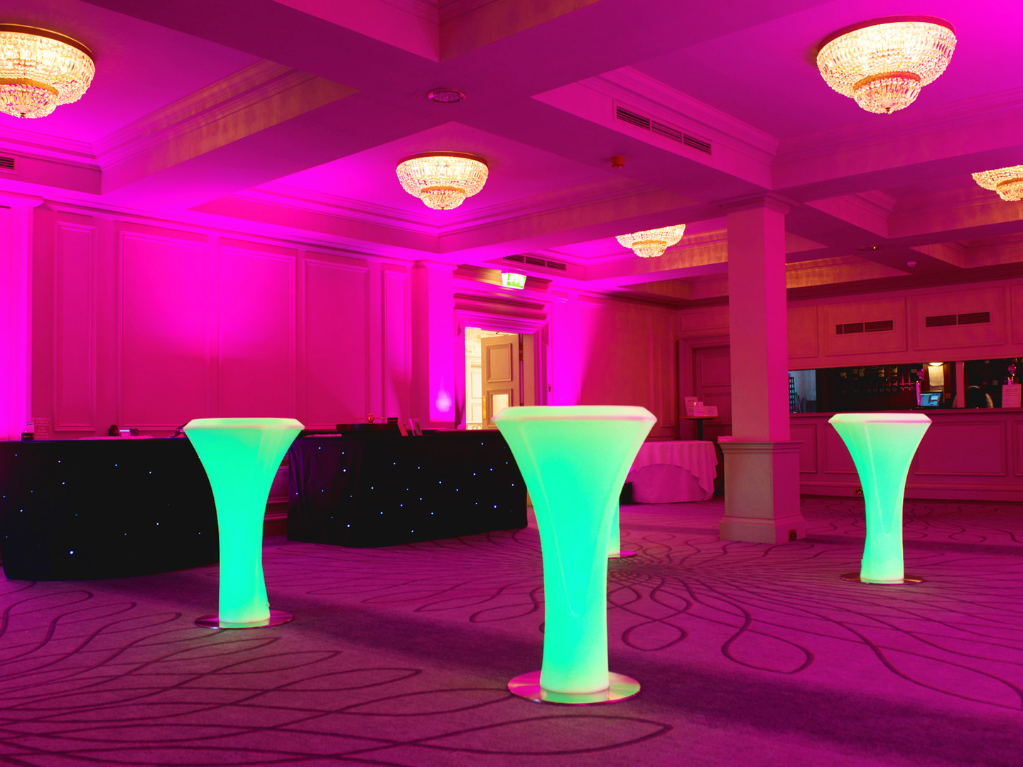 LED Poseur Tables - Green