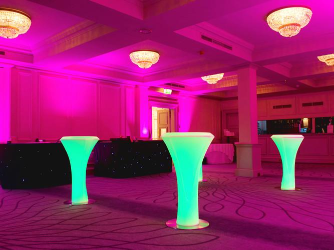 LED Poseur Tables - Green