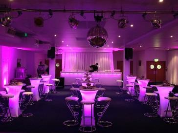 LED Poseur Tables - Purple