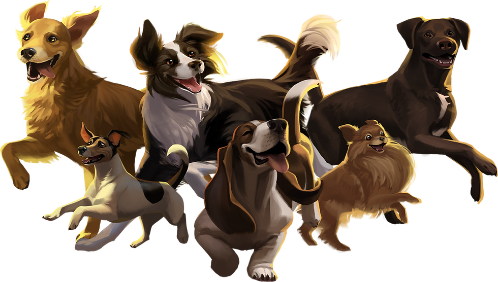 Adorable dogs in the game