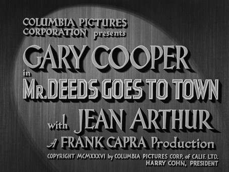 weekly inspiration #1                           MR. DEEDS GOES TO TOWN (1936)