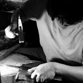 堺忠相作プロのためのオリジナル包丁の製作開始
