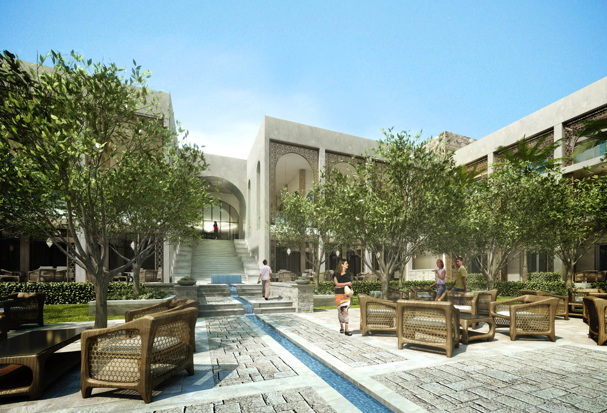 Central Courtyard Water Feature