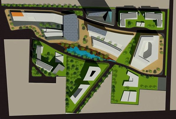 Masterplan for a 25 acre mixed used development