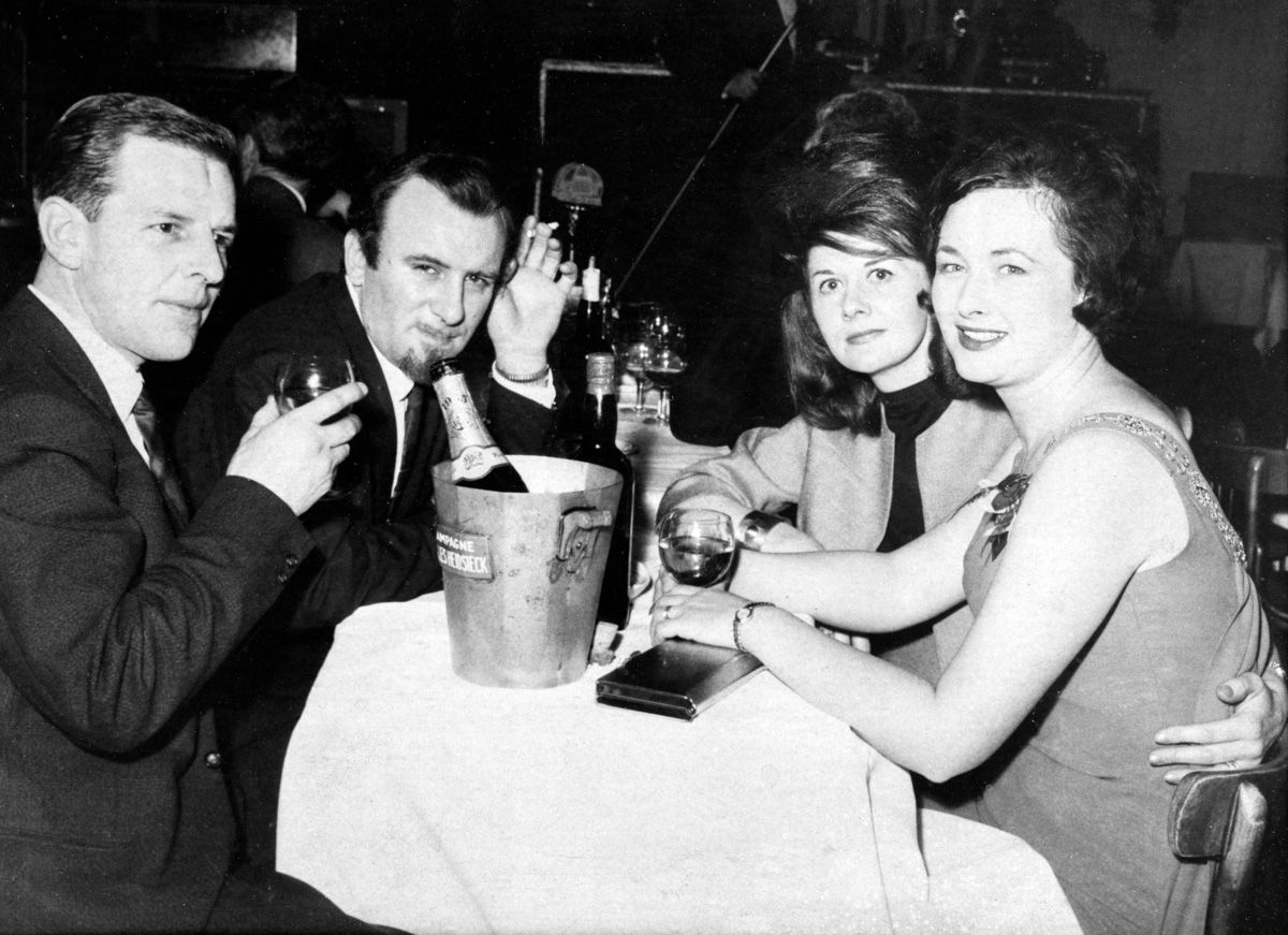 Derek Gowlett, Acker, Jean Bilk and Betty Gowlett.