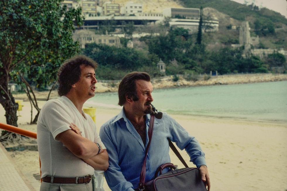 Photo Pete Bilk.  Hong Kong 1982.  Paul Gadine and Acker Bilk.