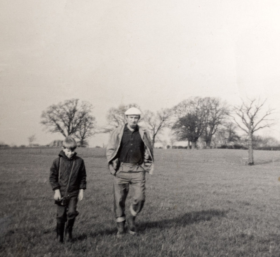 Acker and son Pete.  Potters Bar Golf course.