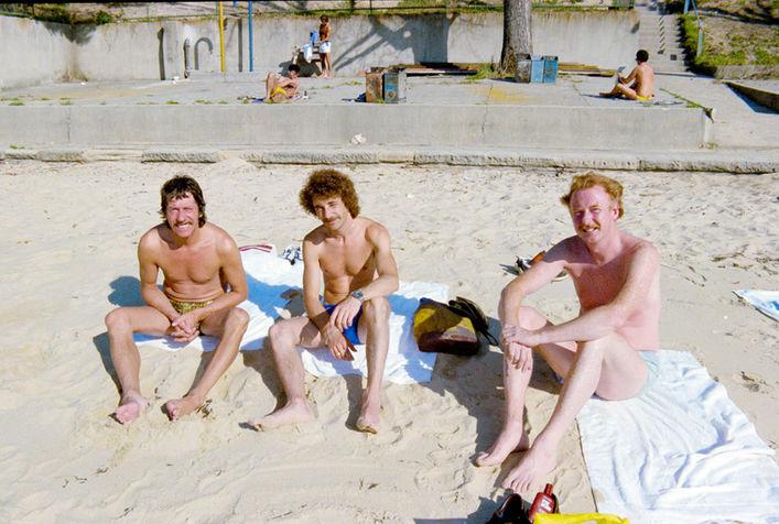Photo Pete Bilk.  Tucker, Jim and Mike Cotton.