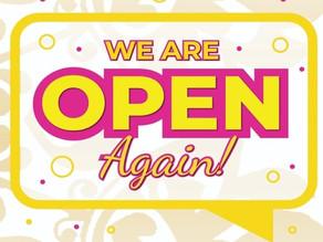 2'nd December - Big Reopening