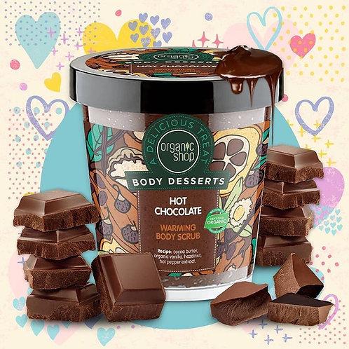 Organic Body desserts Hot Chocolate Warming Body Scrub 450ml