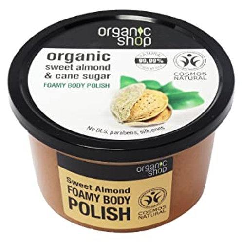 OrganicFoamy  Body Polish Sweet Almond & Cane Sugar