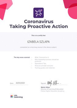 IZABELASZLAPACoronavirus–TakingProactiveActionCertificate