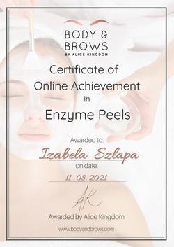CertificateEnzymePeels1 izabela szlapa beautyland-200527-080409