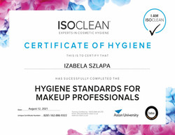 izabela-ISOCLEAN-Hygiene-Standards-Course-Hygiene-standards-certificate-ISOCLEAN