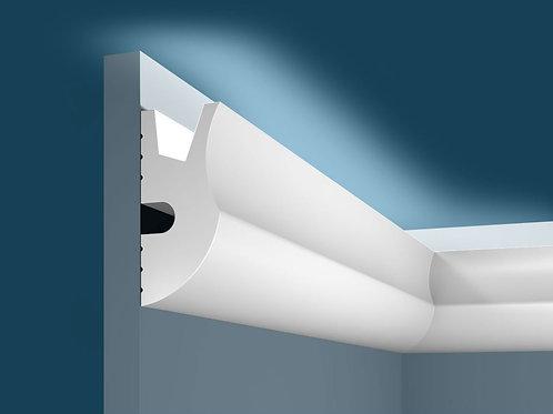 Карниз для скрытого освещения KX026 (95*42*2000мм), экополимер