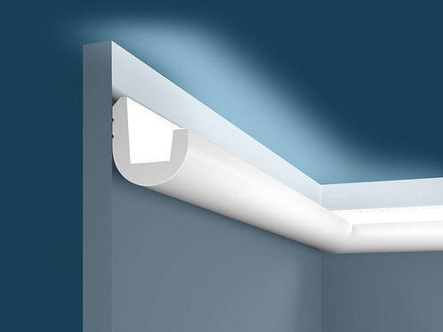 Карниз для скрытого освещения KX024 (55*50*2000мм), экополимер
