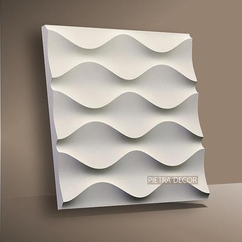 Панель 3D Песочная волна 500х500 мм