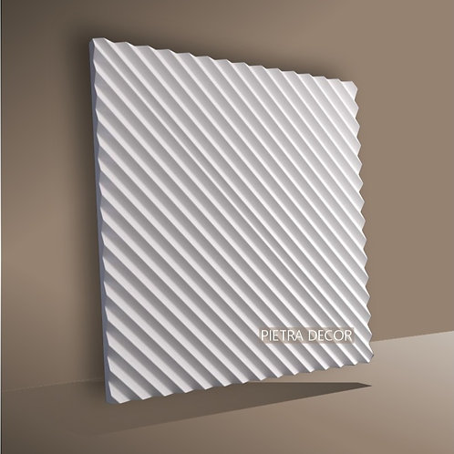 Панель 3D Консул Рейка Диагональ 500х500 мм