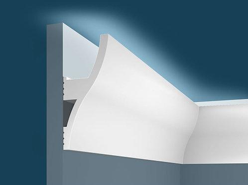 Карниз для скрытого освещения KX002 (120*53*2000мм), экополимер