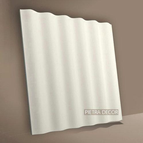 Панель 3D Волна прямая 500х500 мм