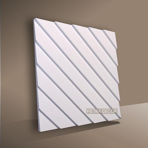 Панель 3D Рейка диагональ 500х500 мм