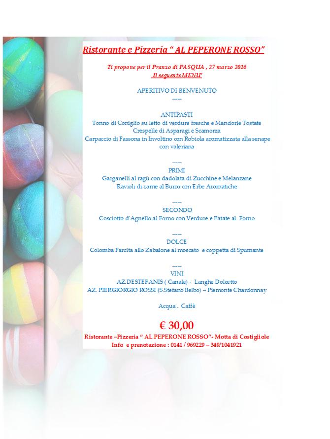 27 MARZO 2016...pranzo di Pasqua!!