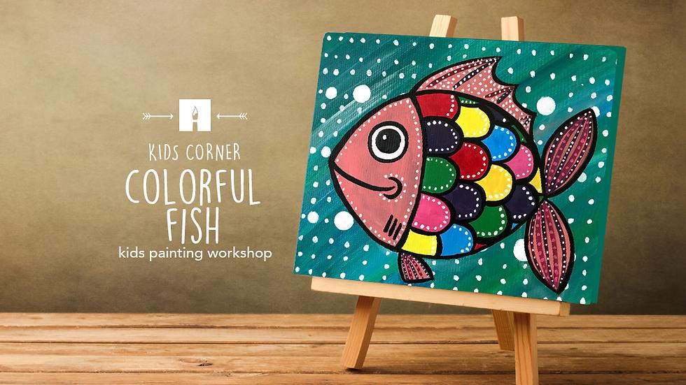 Colorful Fish Painting Art Kit