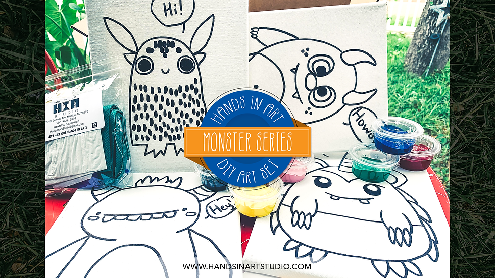 Monsters DIY Art Set