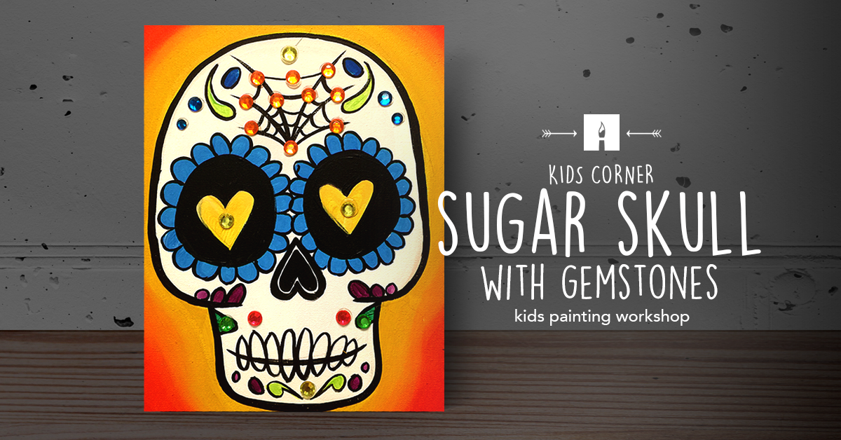 KIDS CORNER Paint Sugar Skull Gemstones.