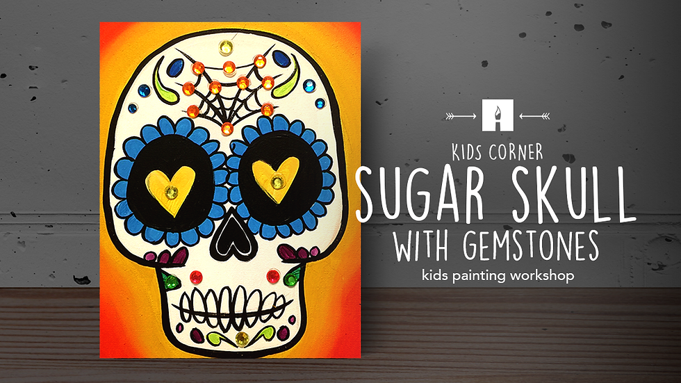 Sugar Skull w Gemstones