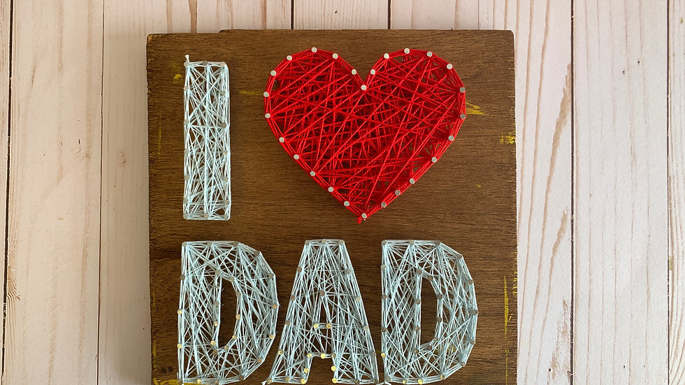 String Art Kit I Love Dad
