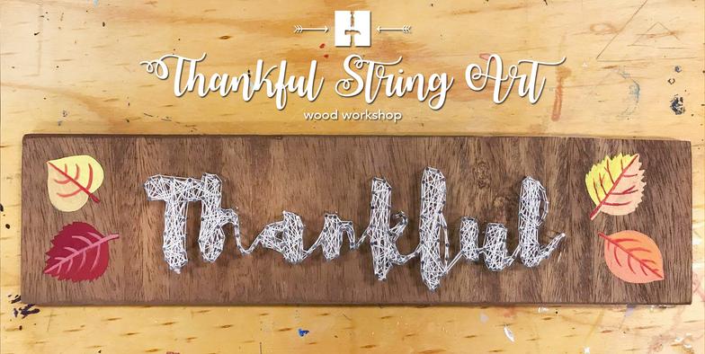 Thankful String Art