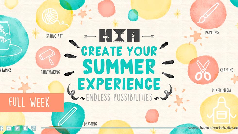Kids Summer Art Camp - FULL WEEK