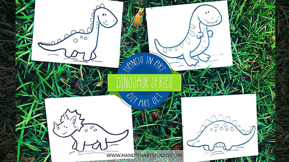 Dinosaur DIY Art Set
