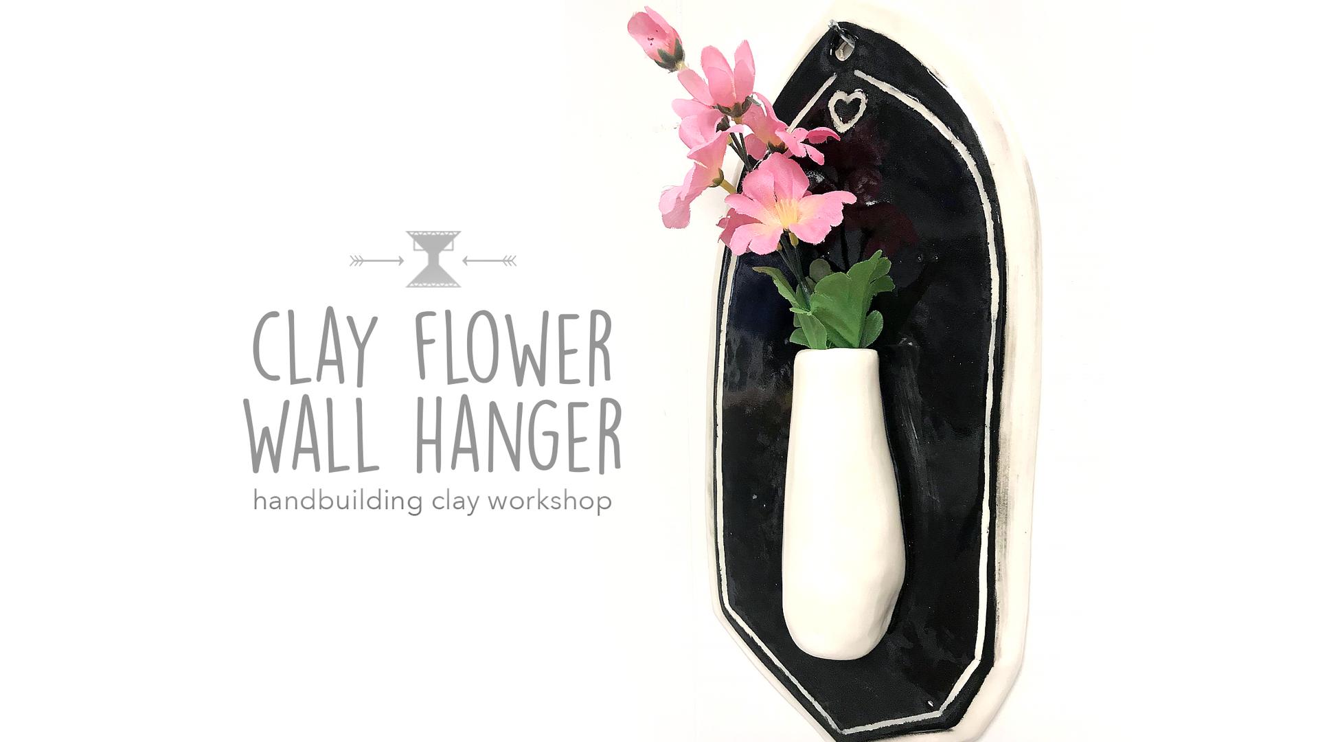 Clay Flower Wall Hanger