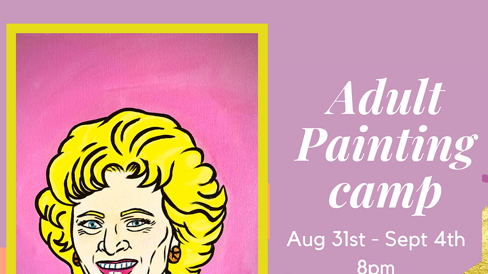 Stay Golden Painting Camp!