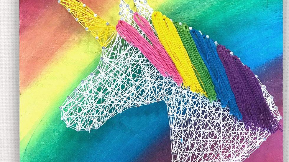 DIY Art Kit - Unicorn Rainbow String art