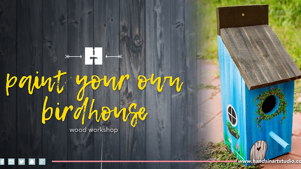 Paint Your Birdhouse