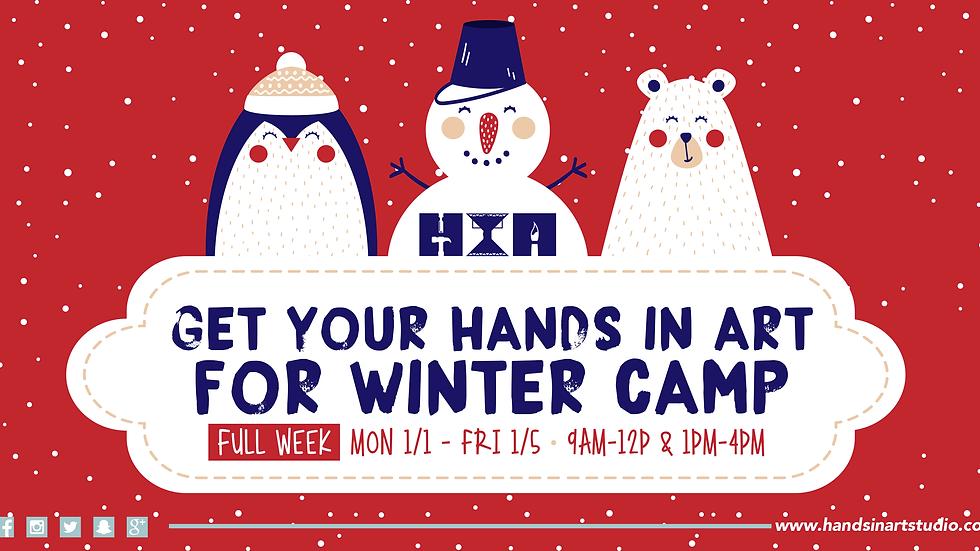 Kids Winter Art Camp - FULL WEEK